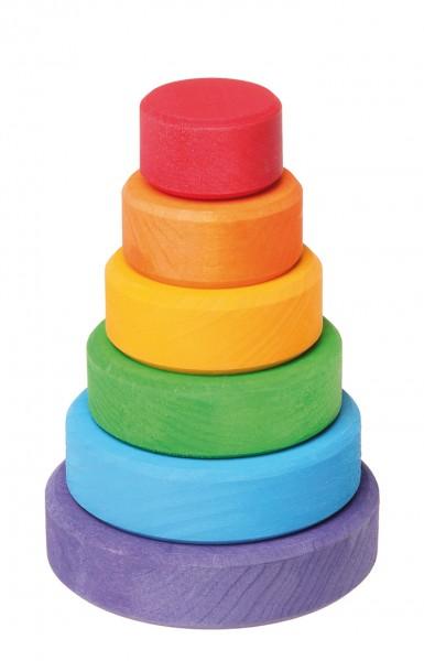 Artikelbild: Stapelturm Regenbogenfarben aus Buchenholz Grimm's, klein