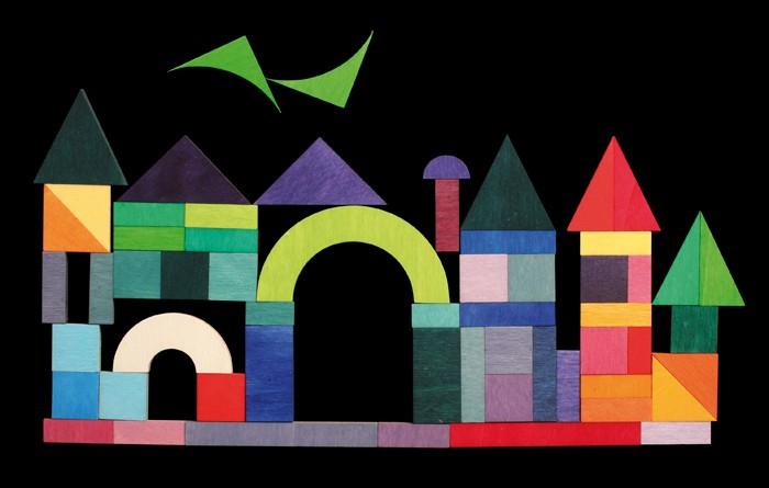 Artikelbild: Magnetspiel Legespiel geo-Grafisch aus Birken- und Pappelholz Grimm's