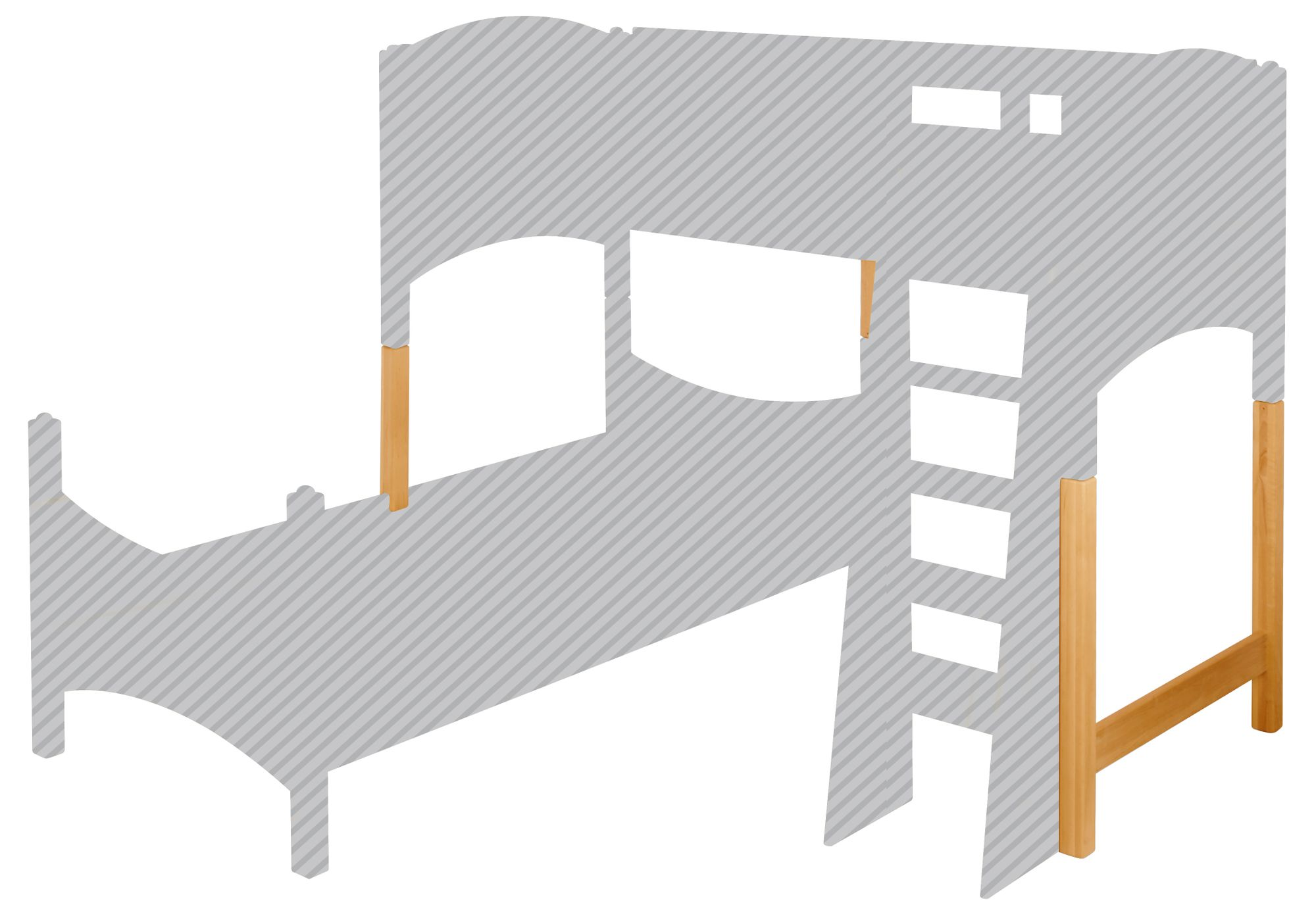 Etagenbett Noah : Biokinder umbauset zum noah etagenbett versetzt erle