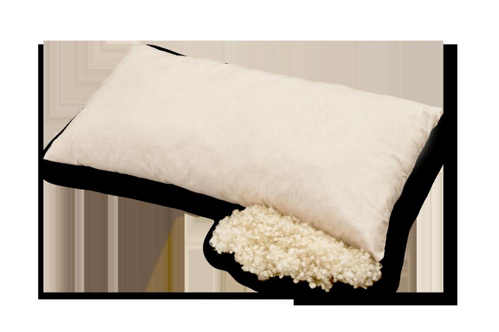 Artikelbild: Kopfkissen aus Bio-Baumwolle und Bio-Schurwolle, Baumberger