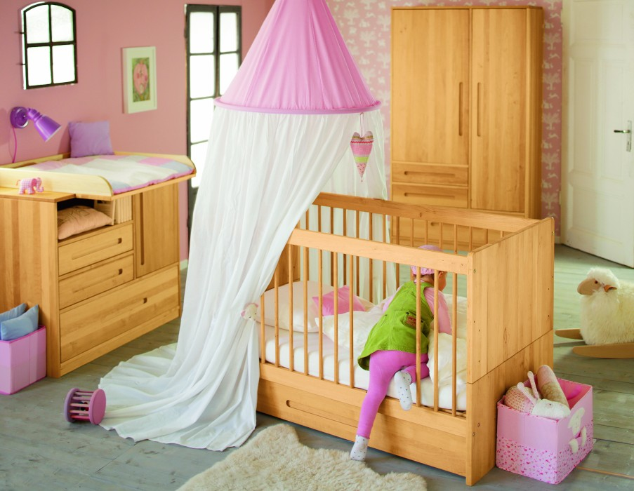 biokinder lina babybett 70x140 cm. Black Bedroom Furniture Sets. Home Design Ideas