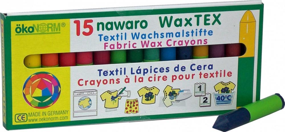 Artikelbild: Bio-Stoffmalkreide WAX TEX 15 Stück, ökoNORM