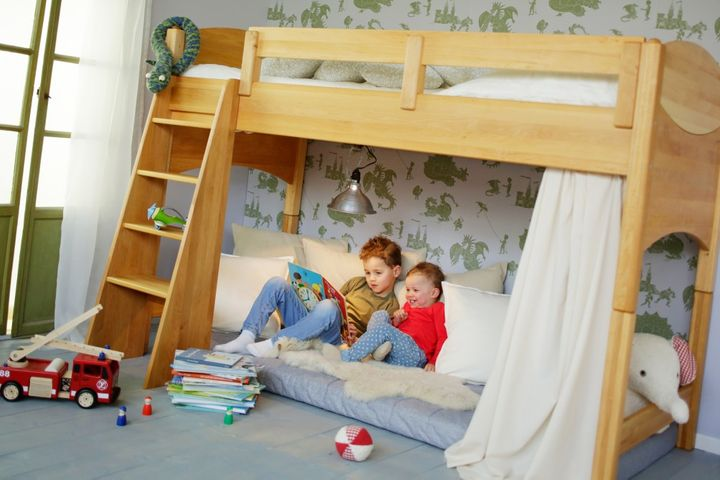 biokinder komplett set noah kinder hochbett 100 cm erle. Black Bedroom Furniture Sets. Home Design Ideas