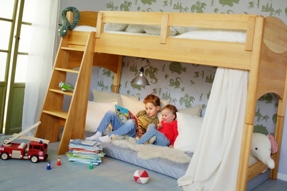 Artikelbild: Komplett-Set: Noah Kinder-Hochbett 100 cm Erle