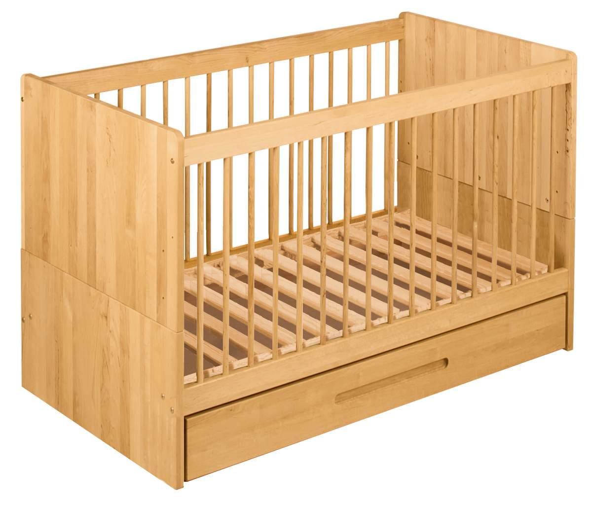 biokinder spar set lina babybett mit bettkasten 70x140 cm. Black Bedroom Furniture Sets. Home Design Ideas