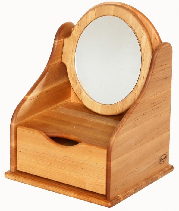 Artikelbild: Frisierspiegel mit Schublade aus massivem Erlenholz