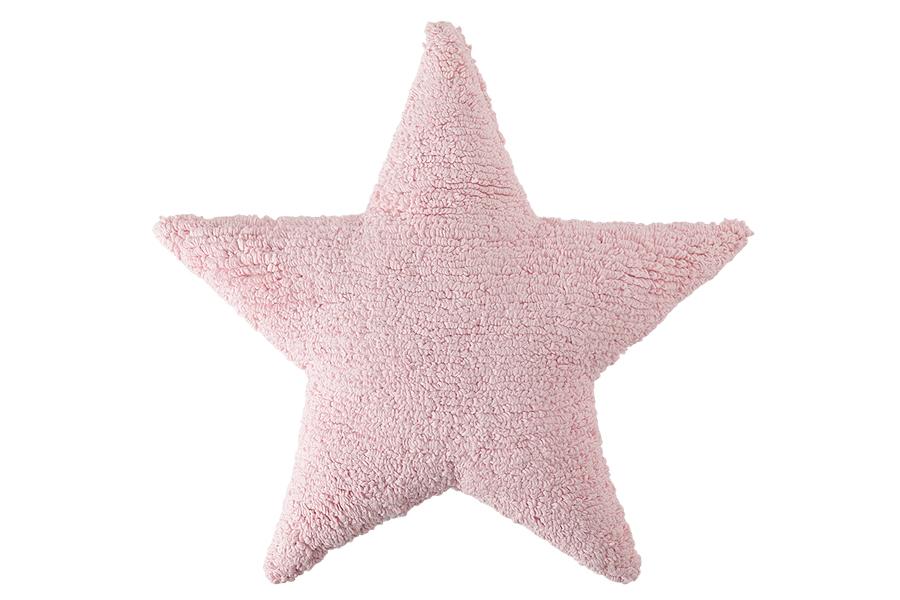 Artikelbild: Stern-Kissen rosa aus Baumwolle, Lorena Canals