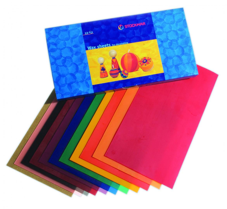 Artikelbild: Wachsfolien 20x10 cm in 12 Farben, Stockmar