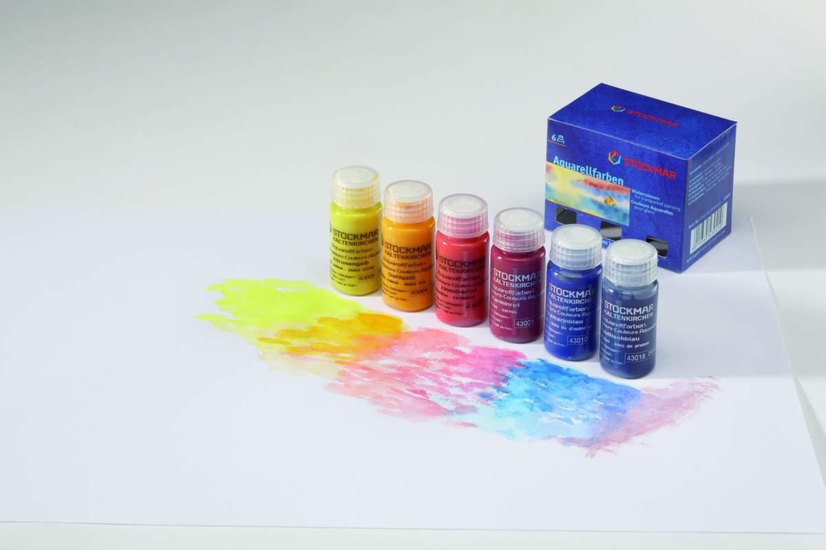 Artikelbild: Aquarellfarben 6 Stück, Stockmar