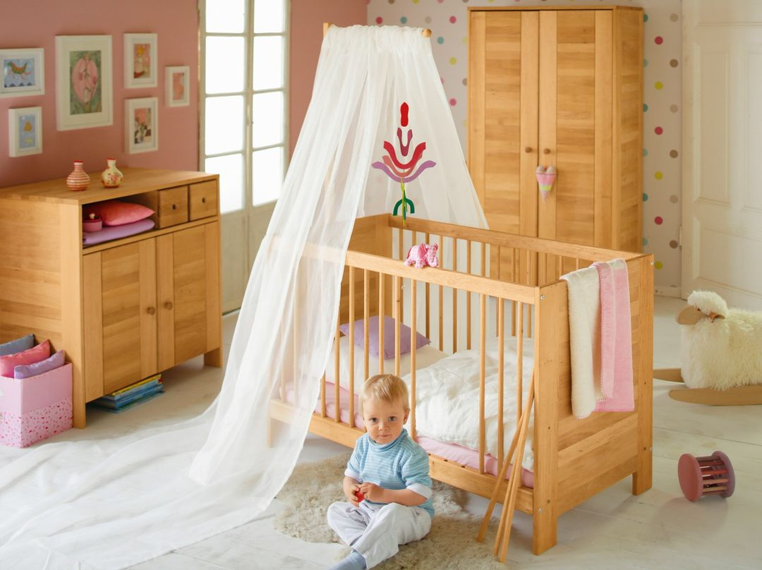biokinder komplett set niklas babyzimmer erle mit bionik matratze. Black Bedroom Furniture Sets. Home Design Ideas