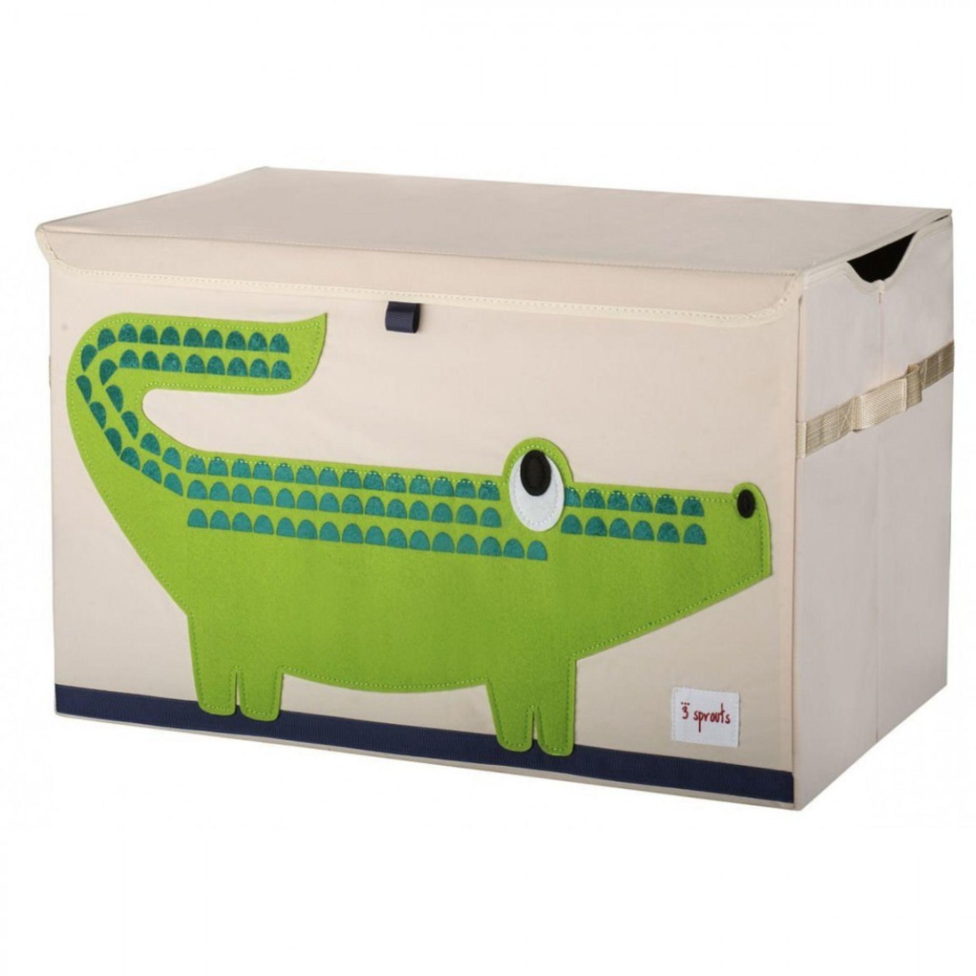 BioKinder | Aufbewahrungskiste Ordnungsbox Krokodil mit Deckel, 3 ...