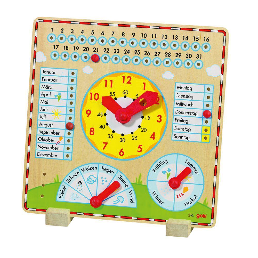 Artikelbild: Jahresuhr mit Datum, Monat, Wochentag, Uhrzeit und Wetteranzeige