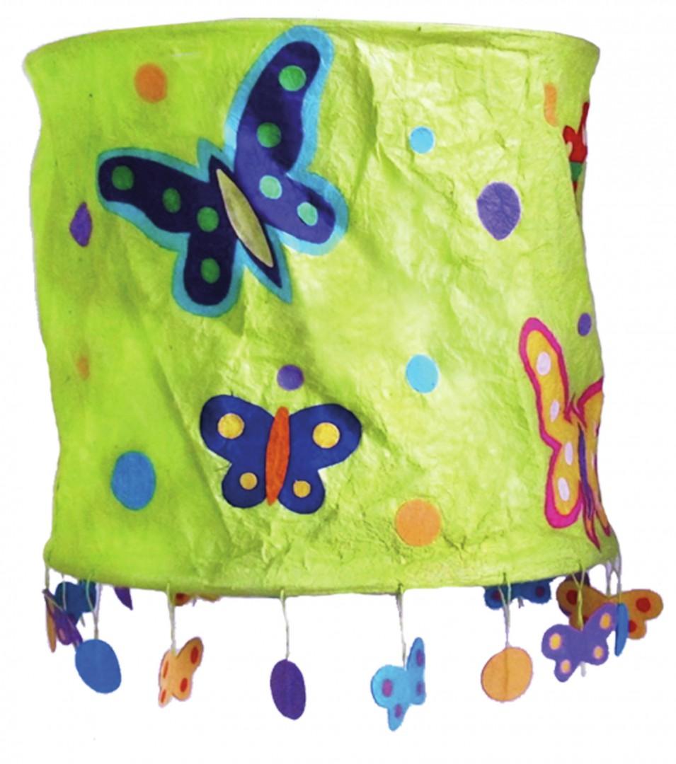 Artikelbild: Lampenschirm Grüne Schmetterlinge