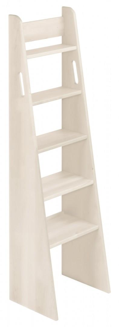 biokinder noah treppen leiter hochbett 140 cm kiefer wei lasiert. Black Bedroom Furniture Sets. Home Design Ideas