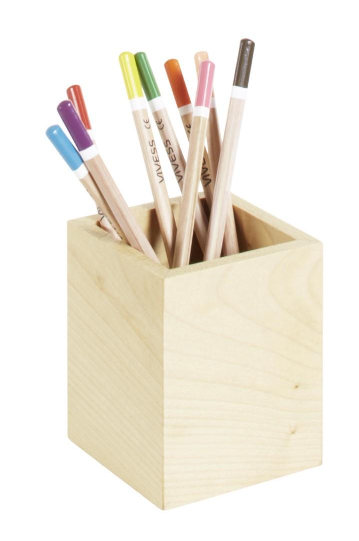Artikelbild: Stifteköcher klein aus Ahornholz, Oberurseler Werkstätten