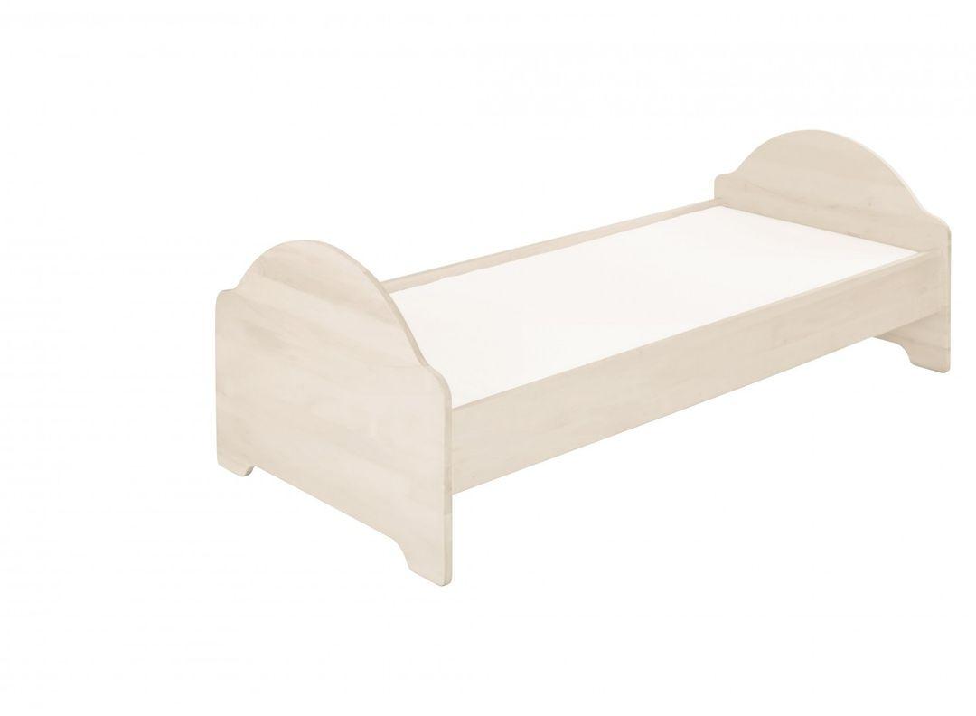 biokinder kinderbett anton jugendbett kinderzimmer kiefer wei 100x200 neu 4251012311967 ebay. Black Bedroom Furniture Sets. Home Design Ideas