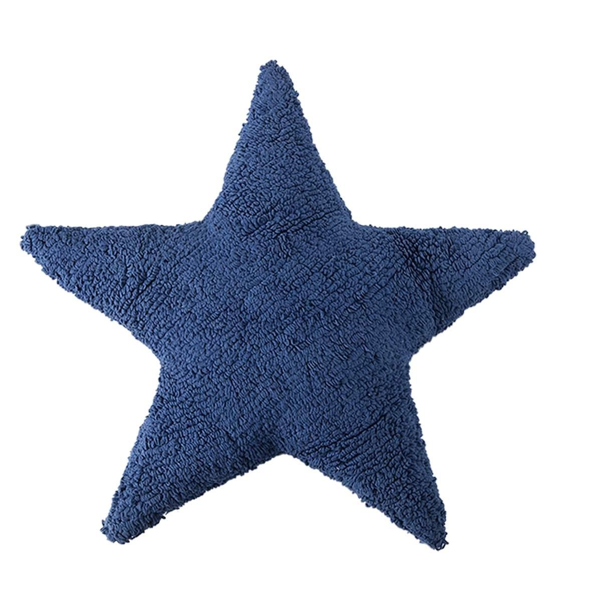 Artikelbild: Stern-Kissen Blau aus Baumwolle, Lorena Canals