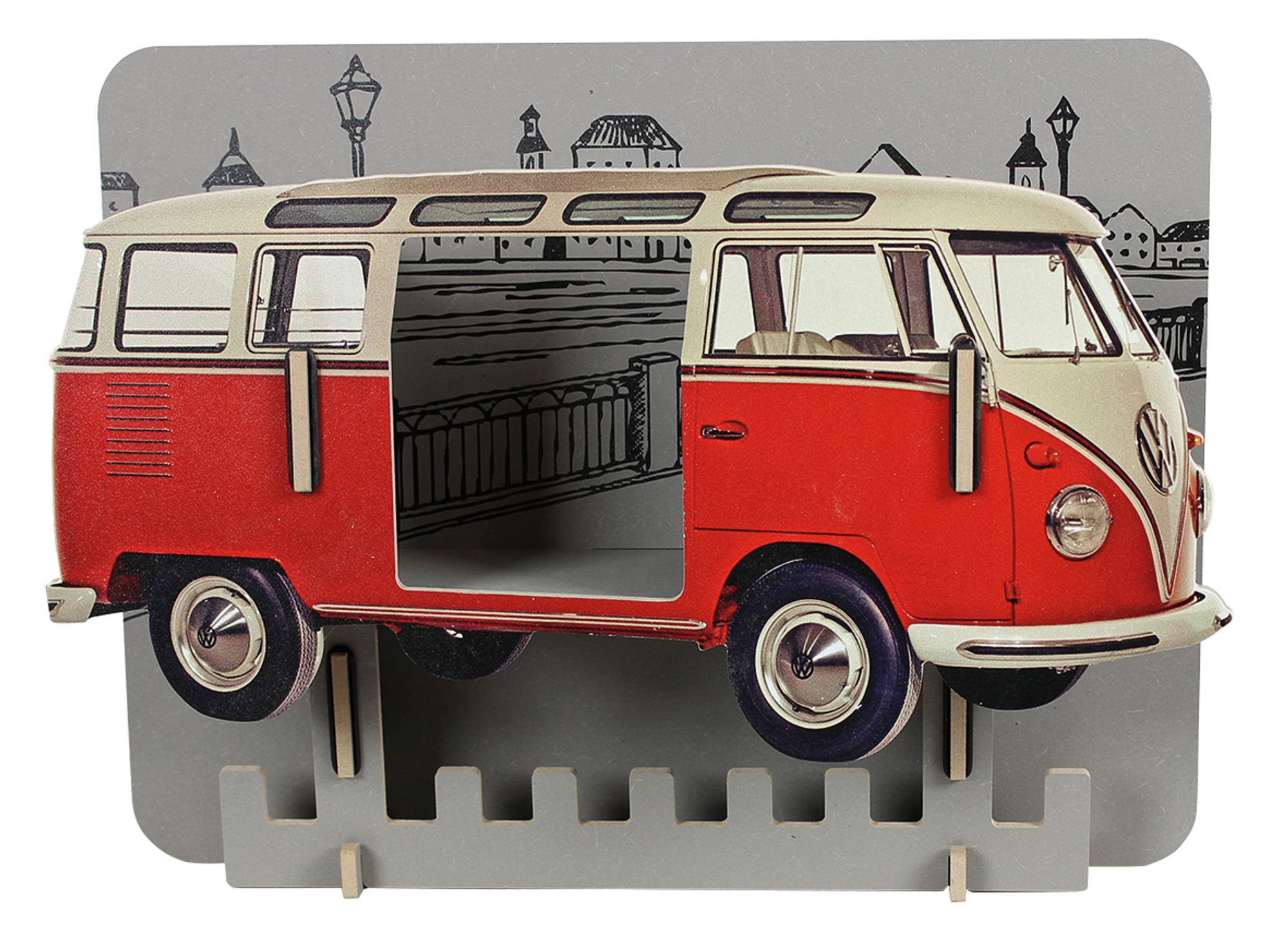 biokinder garderobe vw bus rot werkhaus. Black Bedroom Furniture Sets. Home Design Ideas