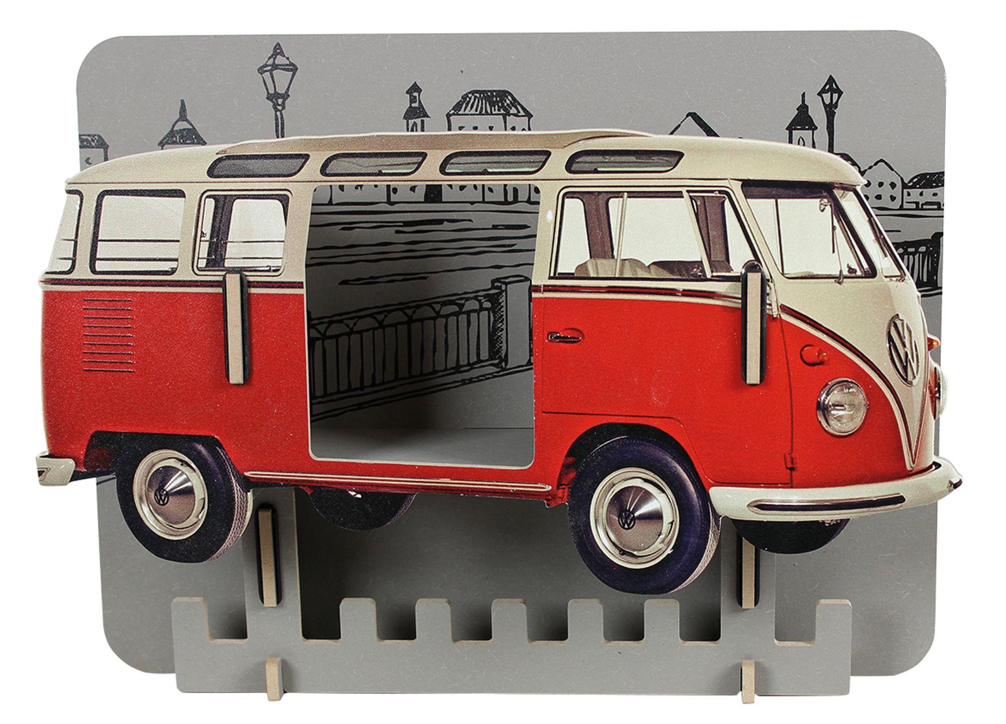 biokinder garderobe vw bus rot werkhaus. Black Bedroom Furniture Sets. Home Design Ideas