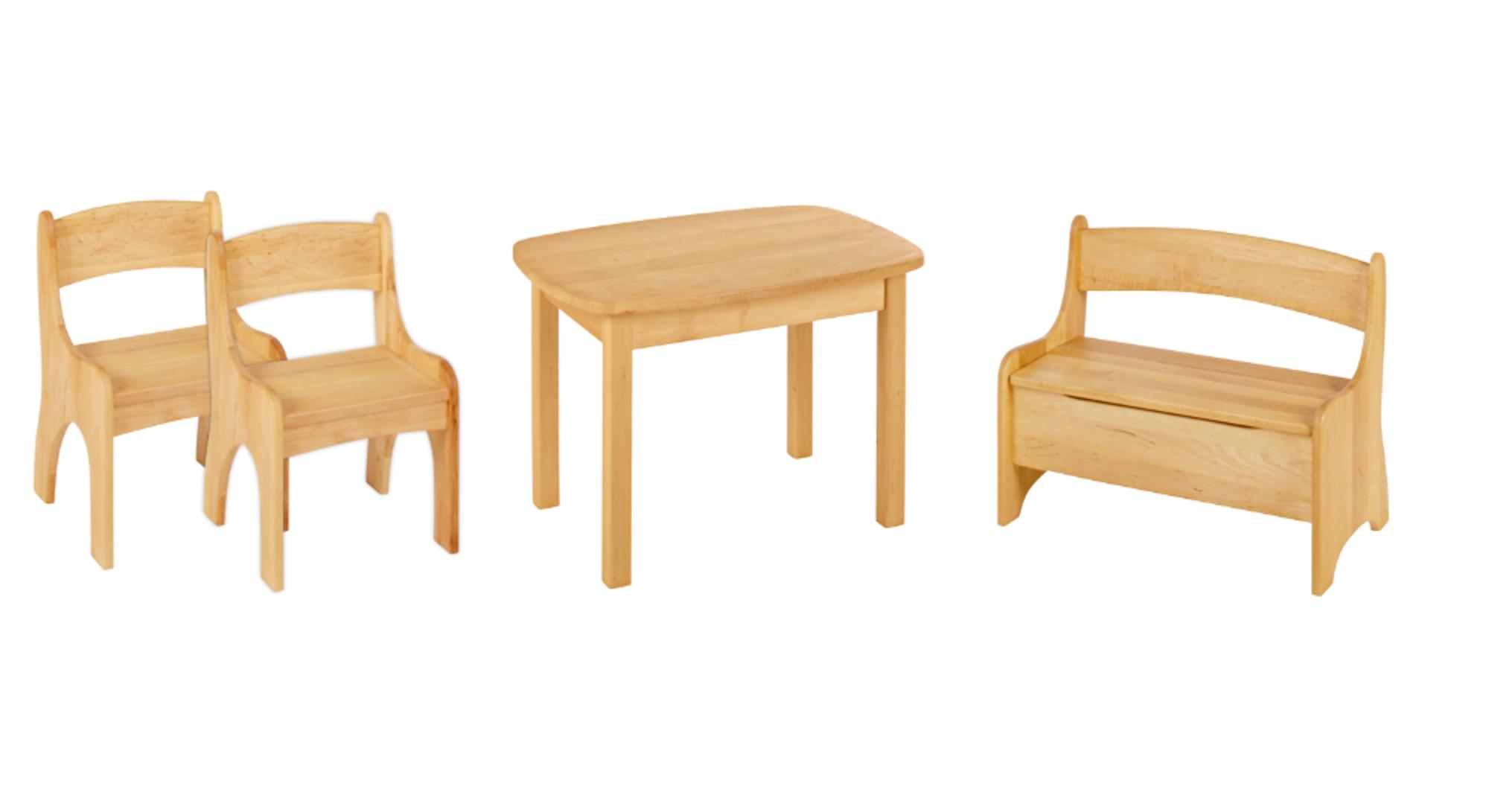 Biokinder Spar Set Levin Kindertisch Mit Bank Und 2 Stühlen