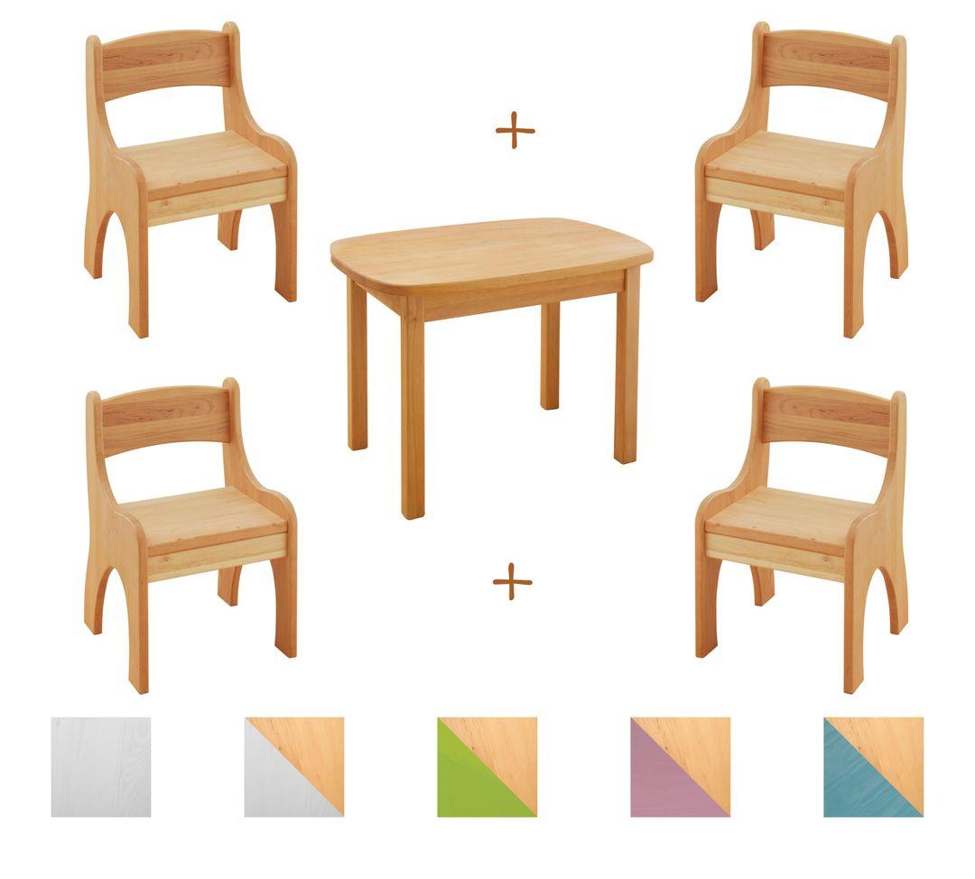 kindersitzgruppe kindertisch mit 4 st hlen kinderstuhl. Black Bedroom Furniture Sets. Home Design Ideas