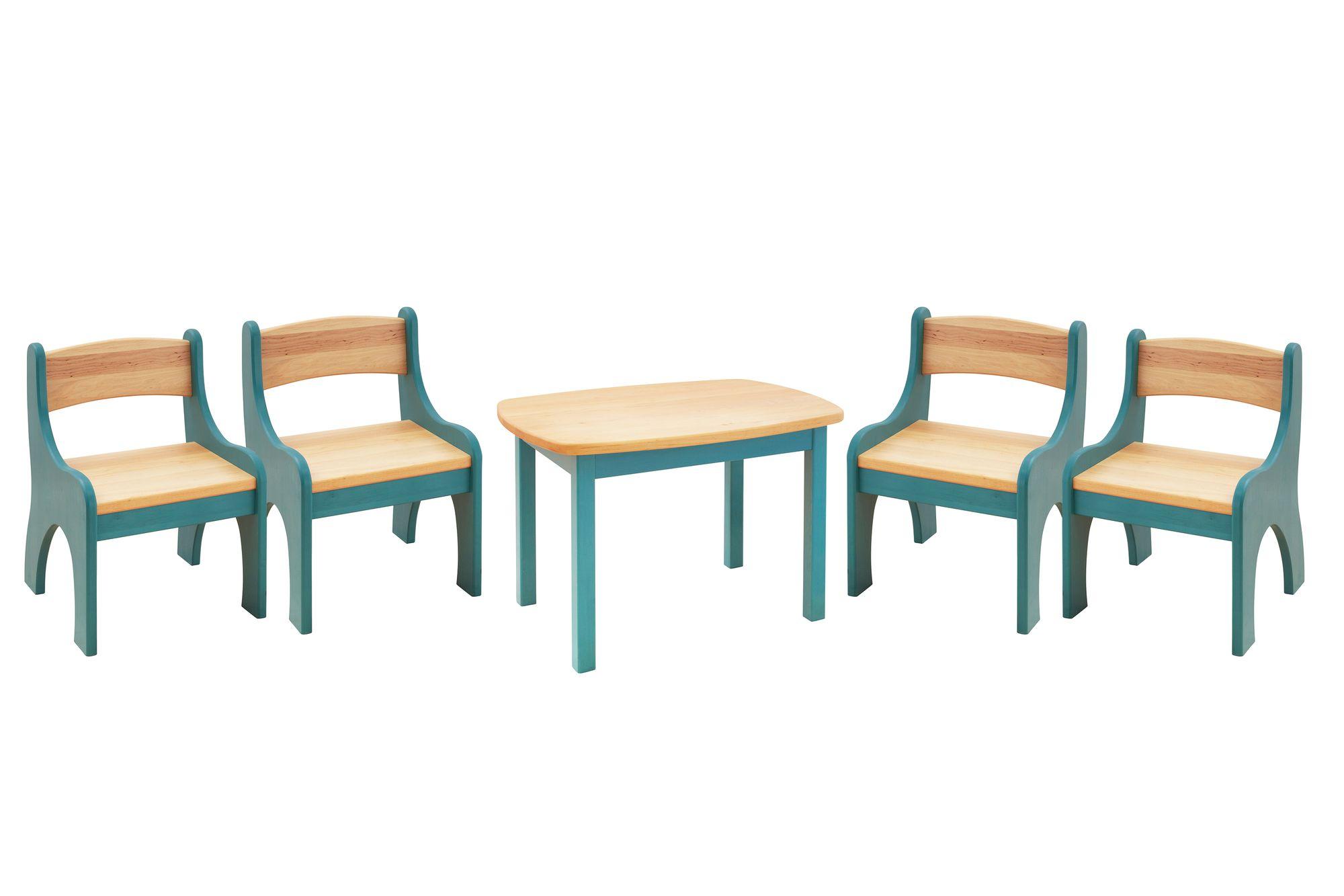 Biokinder Set Levin Kindertisch Mit 4 Stuhlen