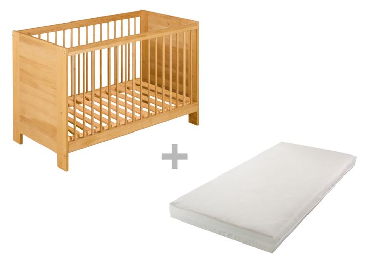 biokinder spar set niklas babybett 60x120 cm mit bionik. Black Bedroom Furniture Sets. Home Design Ideas