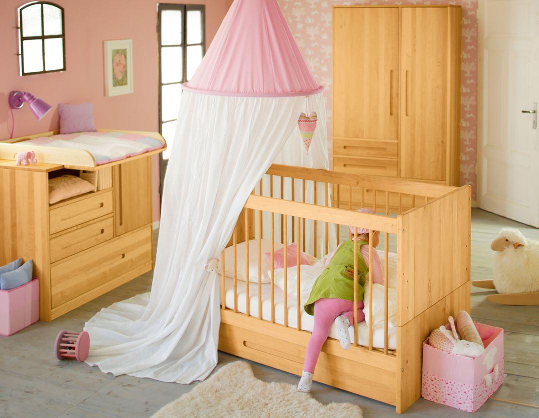 biokinder lina babybett kinderbett mit bio matratze bettkasten naturbett neu ebay. Black Bedroom Furniture Sets. Home Design Ideas