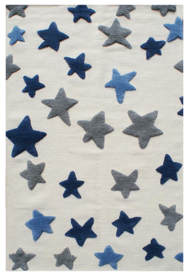 Artikelbild: Schurwollteppich Sterne 120x180 cm