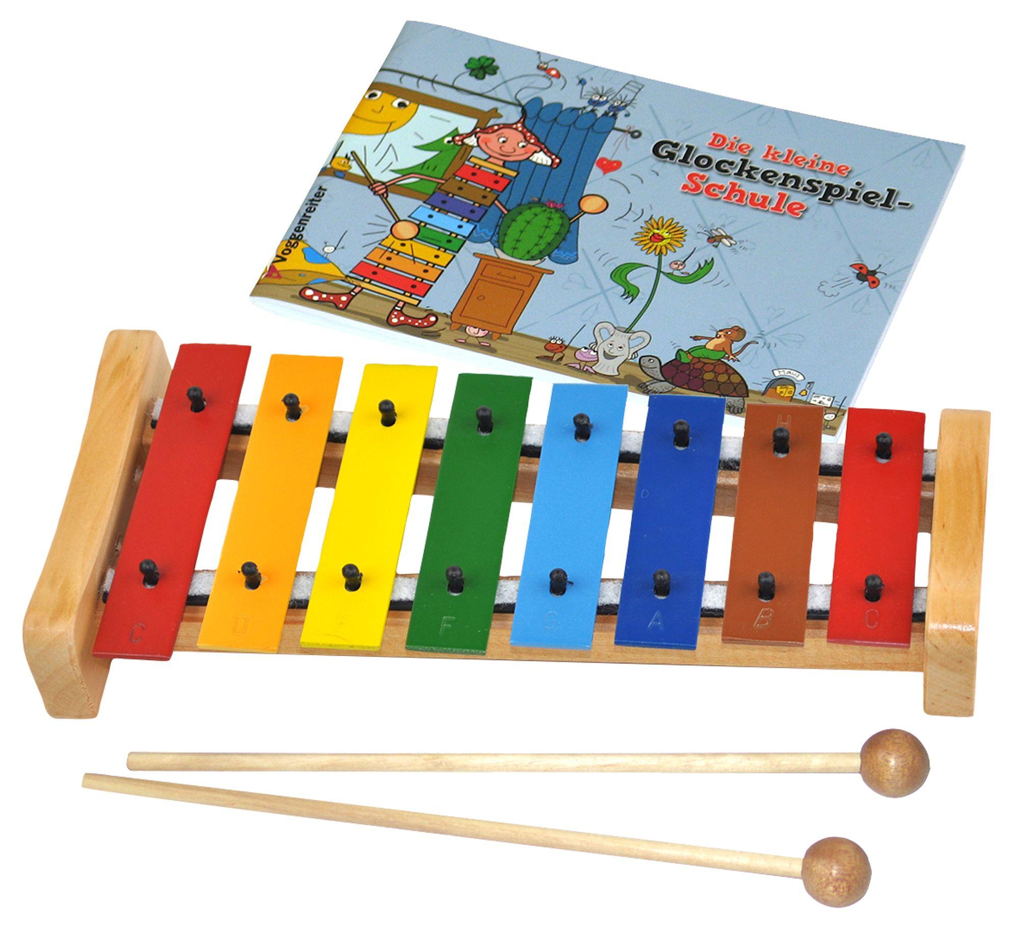 Voggenreiter Voggys Handtrommel mit Holzschlägel Hand Trommel Kinder Instrument